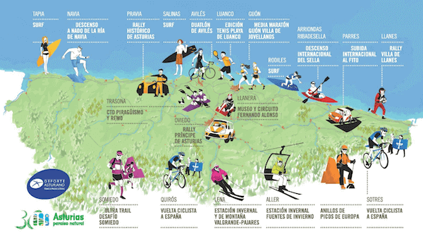 Asturias Mapa