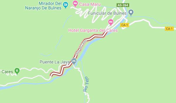 Ruta Del Cares Mapa.La Ruta Del Cares En Asturias Km Mapa Y Dificultad